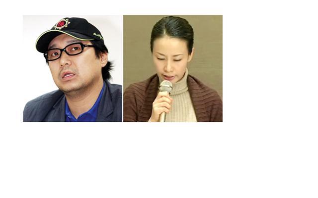 옥 소리 (left) 박철 (right)