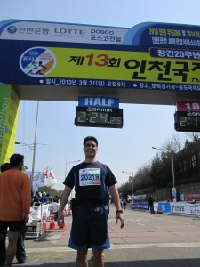 Incheon Half-marathon, March 2013