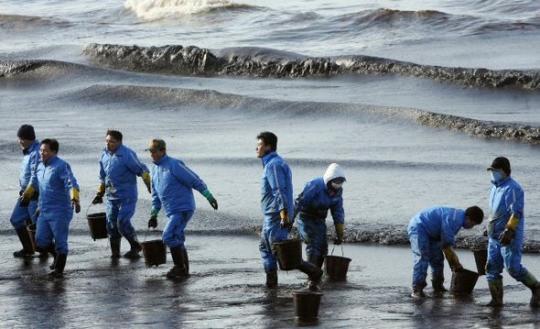 태안앞바다 기름유출