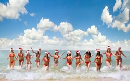 summer santa christmas girls - Summer Christmas