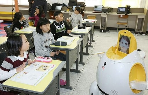 robot teaching English in South Korea